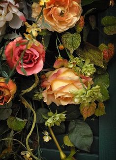Roses in muted fall colors - Reminds me of a beautiful, opulent oil painting.