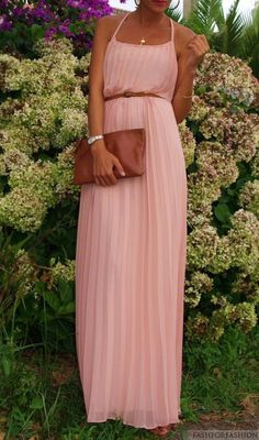 pretty pleated pastel maxi