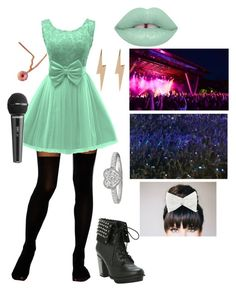 """Perfoming at my own concert; Inspired by @squishy-bubble-tea"" by leafyismydaddy ❤ liked on Polyvore featuring ASOS, Edge Only, Lime Crime and Decree"
