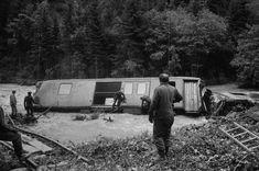 Zwischen Fideris und Küblis, Zugunglück Rhätische Bahn wegen Hochwasser Bahn, Trains, Zug, Train