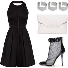 MonoChrome by timeandcouture on Polyvore