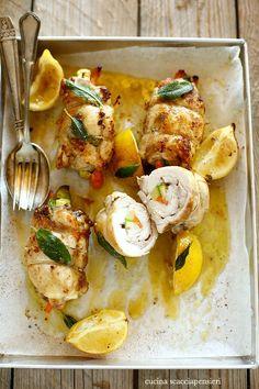 Cosce di pollo farcite al limone caramellato