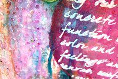 Somia en Colors: New mixed media canvas