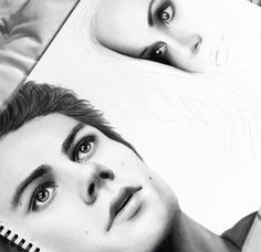 Teen wolf Stiles and Lydia fan art drawing