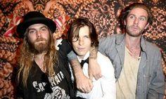 Artist Dash Snow with Ryan McGinley and Dan Colen