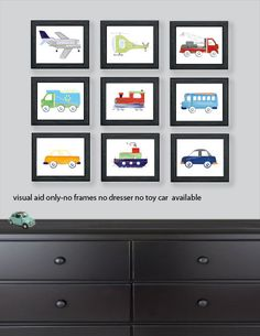 Boys Transportation Art Airplane Bus Truck by sweetpeasartstudio2 (Art & Collectibles, transportation, kids bedding, boy bedding, airplane, bus, helicopter, cars, transportation art, truck art, cars and trucks art, kids wall art, trains planes art, brody art)