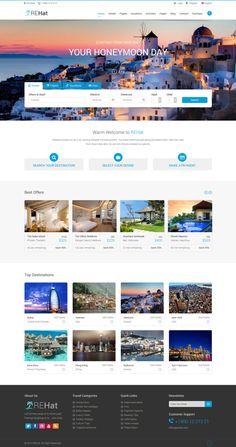 sky booking travel online multipage website template website
