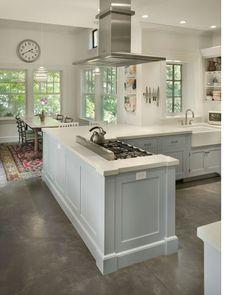 Grey Concrete Floors with White Kitchen. floors_2.jpg (425×533)