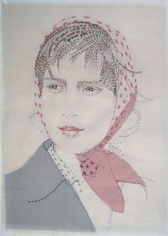 Cross Stitch Embroidery, Embroidery Patterns, Hand Embroidery, Portrait Embroidery, Needle And Thread, Sewing Hacks, Textile Art, Fiber Art, Folk Art