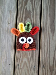 Turkey Hat Crochet 0 to 6 months - Thanksgiving - Christmas - holiday - newborn photography prop on Etsy, $18.95