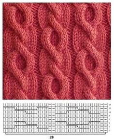 # Knitting - Lilly is Love Cable Knitting Patterns, Knitting Stiches, Knitting Charts, Knitting Designs, Knitting Needles, Knit Patterns, Free Knitting, Baby Knitting, Stitch Patterns
