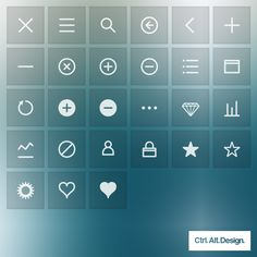 Mobile App Interface Vector and Web Font Icons, Free Download