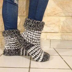 L'atelier de Tiphanie: Chaussettes faciles pour l'hiver - Tuto  en  français …