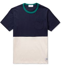 Liful Navy/Cream Contrast T-Shirt