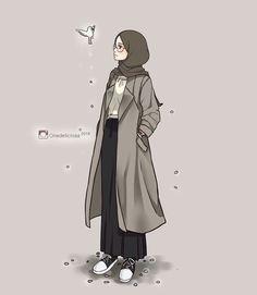 23 best art animasi hijab - my ely Hijab Anime, Anime Manga, Girl Cartoon, Cartoon Art, Hijab Drawing, Islamic Cartoon, Hijab Cartoon, Islamic Girl, Muslim Girls