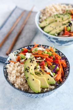 Edamame Sushi Bowl // vegan, vegetarian
