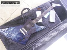 Gibson Explorer with custom work by www.beyondcustomguitars.com