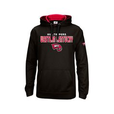 Men's Western Kentucky Hilltoppers College Pullover Hoodie ($40) ❤ liked on Polyvore featuring men's fashion, men's clothing, men's hoodies, black, mens sweatshirts and hoodies, mens long hoodie, mens hoodies, mens hooded sweatshirts and mens hoodie