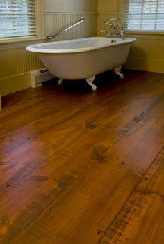 Floor- Hit Or Miss Eastern White Pine Bathroom | Carlisle Wide Plank Flooring