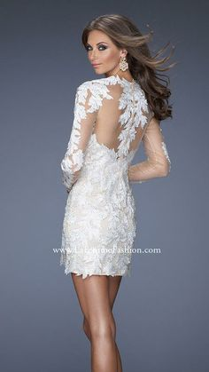 Exquisite white lace cocktail dress