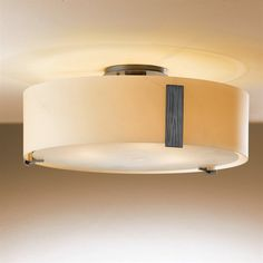 Hubbardton Forge 12-6751-03-G216 3 Light Impressions Large Semi Flush Ceiling Light