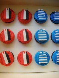 Vanilla Lily Cake Design: AFL Grand Final Cupcakes!