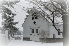 As I watch through the window at the snow falling again, it feels as if I will never see grass again. We had a foot of snow fall last week . Country Barns, Country Life, Only In America, Auld Lang Syne, Through The Window, Foundation, Farmhouse, Cottage, Snow