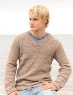 Классический бежевый свитер с V-образным вырезом станет любимой вещью в гардеробе вашего мужчины.Рекомендуется использовать пряжу из натуральной...