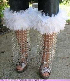 I may have pinned this one already, but if so it deserves the double mockery. What would you call these, chandelier pants? #fashion #WTF