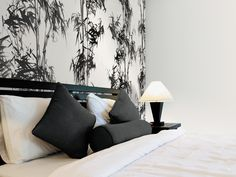 Wallpower - #interior #design #wallcovering Tapestry, Interior Design, Cool Stuff, Floral, Home Decor, Hanging Tapestry, Nest Design, Tapestries, Decoration Home