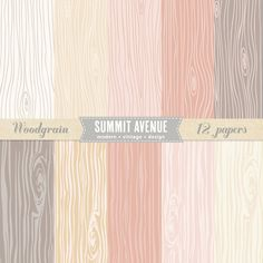 INSTANT DOWNLOAD Romantic Woodgrain digital scrapbook paper pack - for photographers or small commercial. $14.95, via Etsy.