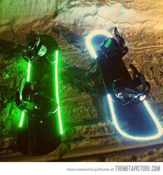 Awesome LED Snowboards…