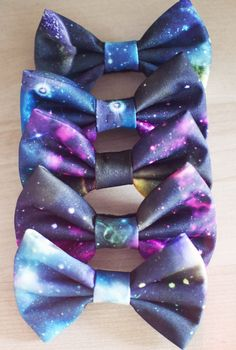 galaxy bows for a TARDIS costume
