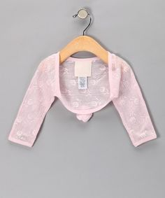 Take a look at this Light Pink Lace Bolero - Infant & Girls by LPD on #zulily today!