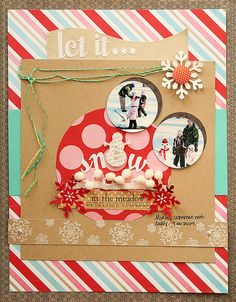 Let It Snow layout by Danielle Flanders for Papertrey Ink (October 2011).