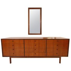 Rare Milo Baughman for Arch Gordon 12-Drawer Dresser & Mirror | From a unique collection of antique and modern dressers at https://www.1stdibs.com/furniture/storage-case-pieces/dressers/