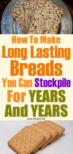 Bread has been a classic sustenance for survival in many cultures since ancient times. The Bible has many references to the bread – which according to the Book of. Emergency Preparedness Kit, Survival Prepping, Survival Hacks, Off Grid Survival, Safety Topics, Off The Grid, Fermented Foods, Preserving Food, Food Storage