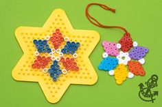Snowflake Decorations Made of Beads