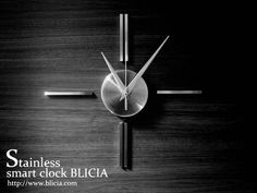 壁掛け 時計 Stainless Smart Clock BLICIA ST5