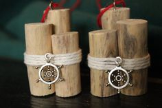 Driftwood Christmas Ornaments Set of 2 by StrollinTheBeach on Etsy