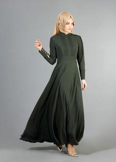 T 1478 Tuay Hakim Yaka Kloş Elbise
