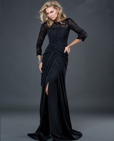 black floor length dress - Google Search