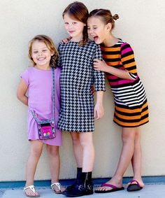 Cute knit T-shirt Dress Sewing Pattern for kids by Go To Patterns