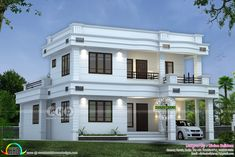 Lakhs cost estimated double storied house (Kerala home design) House Balcony Design, 2 Storey House Design, Kerala House Design, Bungalow House Design, House With Balcony, Modern Small House Design, Simple House Design, Contemporary House Plans, Double Storey House