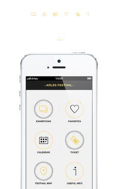 Arles Festival, iPhone App V2.0 by Angelique Calmon, via Behance