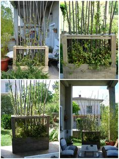 Paravent Végétal En Bois De Palettes / Upcycled Wooden Pallet Vegetal Fence                                                                                                                                                                                 Plus
