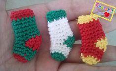Socks - 3 meias feitas em crochê