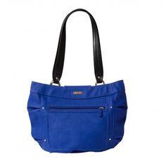Meredith for Miche Demi Walking By, Cobalt Blue, Diaper Bag, Zipper, Pocket, Tote Bag, Purses, Luxury, Side Panels
