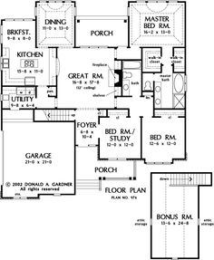 The Wilshire House Plans First Floor Plan - House Plans by Designs Direct.