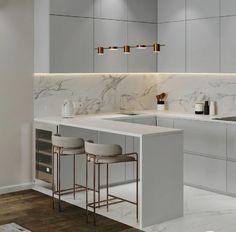 Modern Kitchen Interiors, Luxury Kitchen Design, Kitchen Room Design, Home Room Design, Kitchen Cabinet Design, Home Decor Kitchen, Interior Design Kitchen, Home Kitchens, Kitchen Cabinets